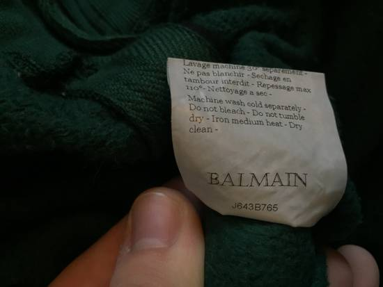 Balmain SS12 Forest Green Badge Hoodie size Large Size US L / EU 52-54 / 3 - 5