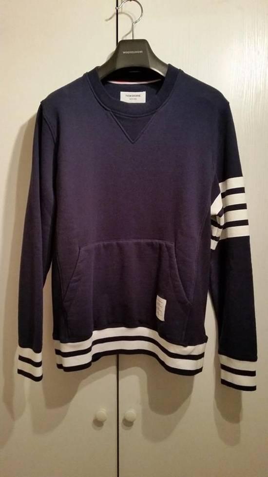 Thom Browne Navy crewneck sweatshirt Size US M / EU 48-50 / 2