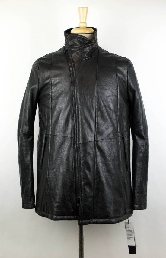 Julius 7 Men's Black Lamb Skin Leather Zip-Up Jacket Size 2/S Size US S / EU 44-46 / 1