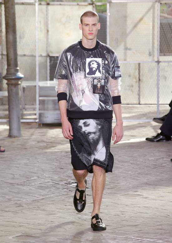 Givenchy Givenchy Men's Runway Crucifixion Clear Sweatshirt Size M SS2016 (AUTHENTIC) Size US M / EU 48-50 / 2 - 9