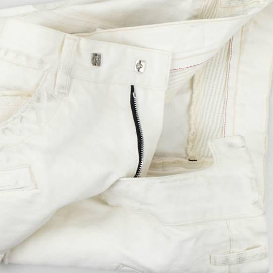 Balmain White Cotton Denim Distressed Biker Jeans Pants Size US 34 / EU 50 - 1