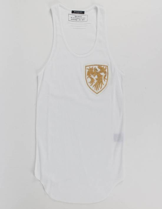 Balmain White Cotton Ribbed Tank Top Size S Size US S / EU 44-46 / 1