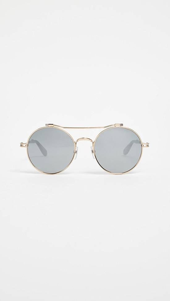 Givenchy NEW Givenchy 7079/S Gold Metal Silver Mirrored Round Sunglasses Size ONE SIZE - 4