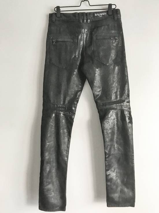 Balmain Brand New Biker Coated Jeans Size US 30 / EU 46 - 4