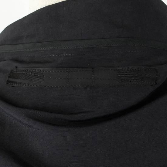 Julius Black Linen Blend 'Kimono Sleeve Long' Trench Coat 2/S Size US S / EU 44-46 / 1 - 5