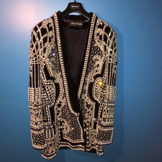 Balmain Balmain Fall 2012 Swarovski Crystal & Pearl Fabergé Tuxedo Size US XXL / EU 58 / 5 - 7