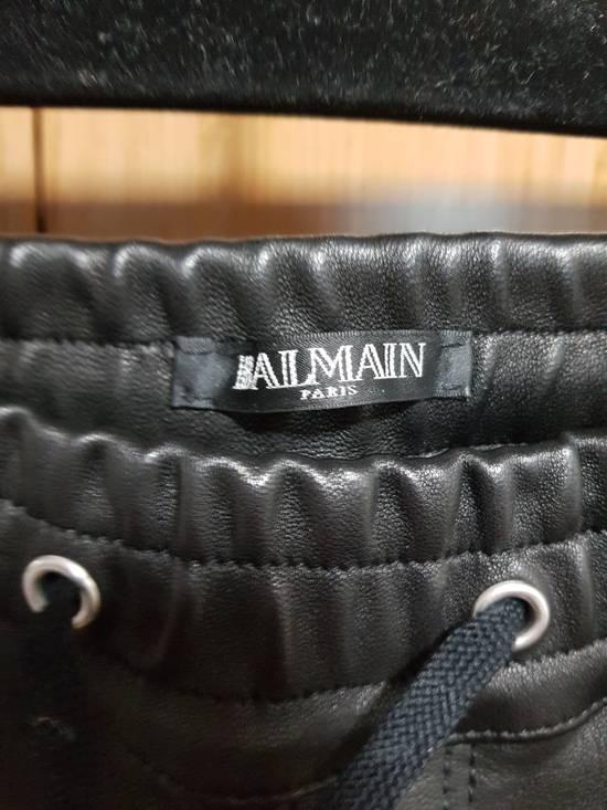 Balmain 14ss Nappa Leather Joggers Pants Size US 30 / EU 46 - 2