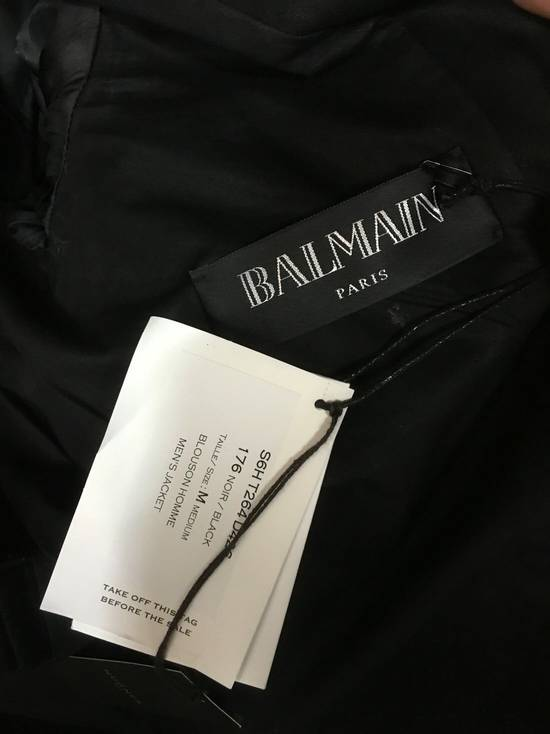 Balmain 2016 Waxed Biker Jacket - Brand New Size US M / EU 48-50 / 2 - 2