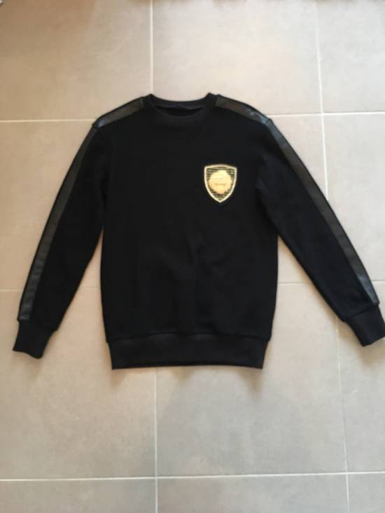Balmain BALMAIN Embroidered Crest Badge Cotton-Jersey Sweatshirt Size US S / EU 44-46 / 1 - 7
