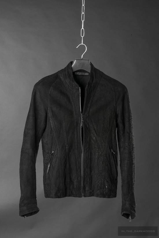 Julius = last drop = distressed lamb leather colarles jacket Size US M / EU 48-50 / 2 - 5
