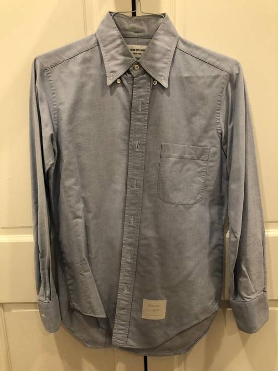 Thom Browne Blue Oxford Shirt Size US S / EU 44-46 / 1