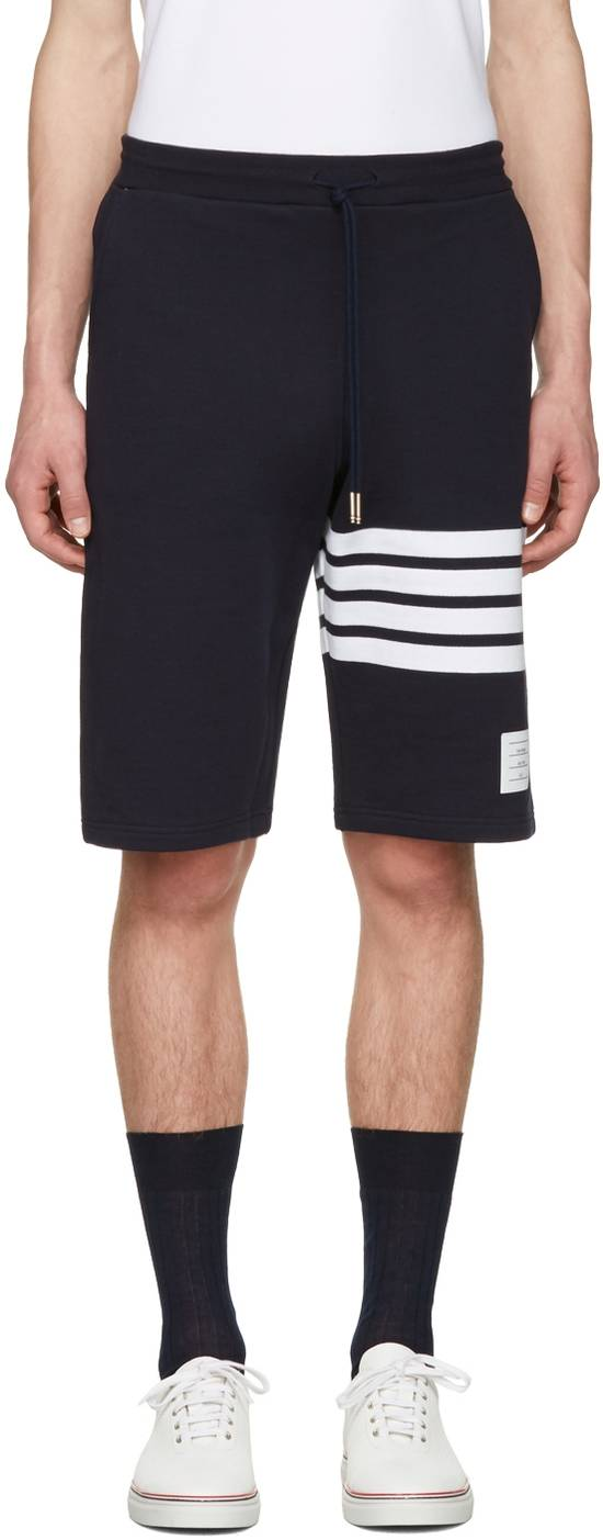 Thom Browne THOM BROWNE Navy Classic Four Bar Lounge Shorts Size US 34 / EU 50