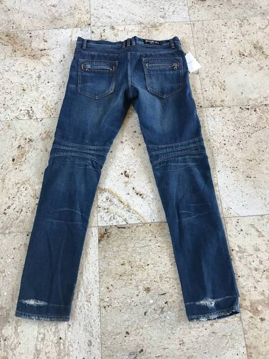Balmain Distressed Blue Denim Size US 34 / EU 50 - 5