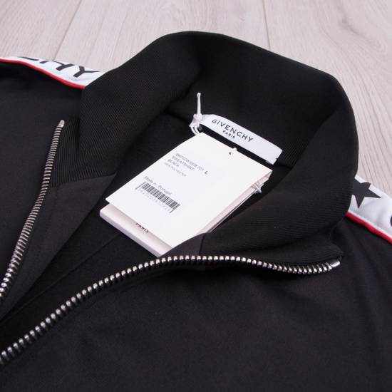 Givenchy Black Technical Jersey Jacket With Logo Banded Sleeves Size US L / EU 52-54 / 3 - 7