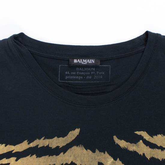 Balmain Black & Gold Cotton Short Sleeve Crewneck T-Shirt Size M Size US M / EU 48-50 / 2 - 1