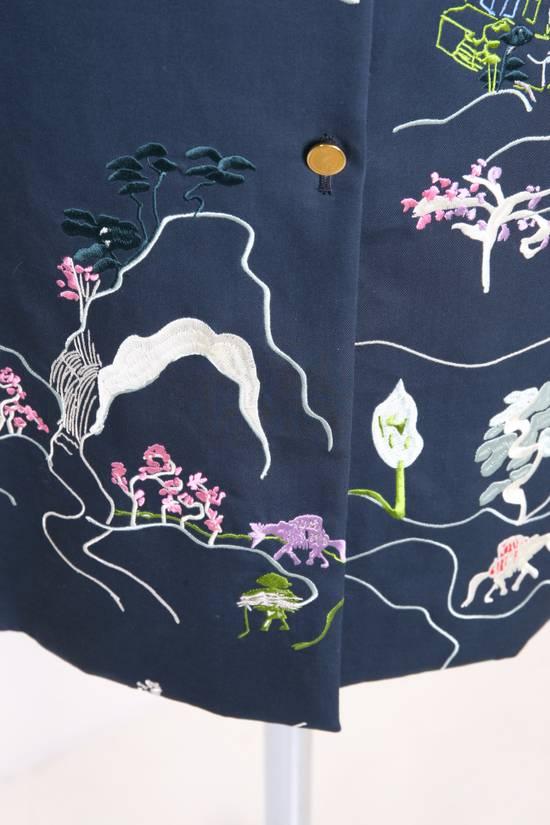 Thom Browne Japanese Garden Navy Coat Size US S / EU 44-46 / 1 - 2