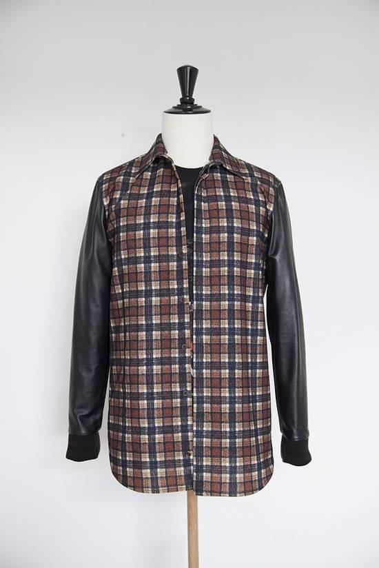 Givenchy AW11 leather plaid shirt Size US S / EU 44-46 / 1