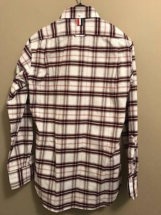 Thom Browne Plaid Oxford Cloth Shirt with Grosgrain Tab NEW Size US S / EU 44-46 / 1 - 6