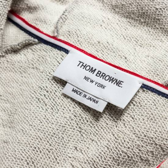Thom Browne GRAY PRINTED FRENCH TERRY KNIT ZIP-UP HOODIE Size US S / EU 44-46 / 1 - 2