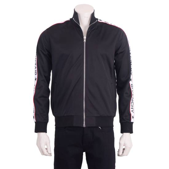 Givenchy Black Technical Jersey Jacket With Logo Banded Sleeves Size US L / EU 52-54 / 3