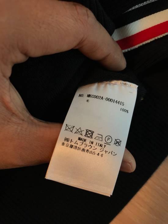 Thom Browne Navy Merino Wool Classic 4 Bar Cardigan Size US XL / EU 56 / 4 - 8