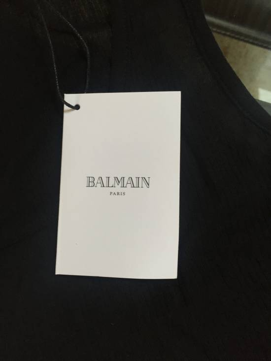 Balmain Black Ribbed Tank Size US L / EU 52-54 / 3 - 5