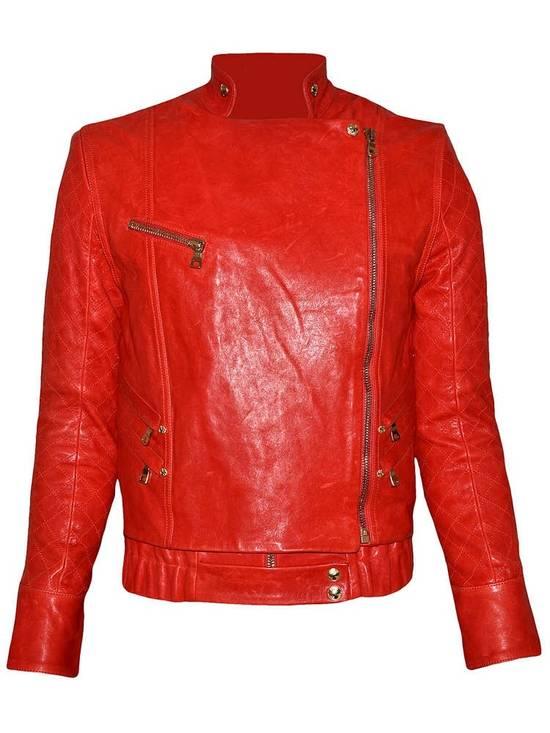 Balmain Layered Biker Leather Jacket Size US M / EU 48-50 / 2 - 5