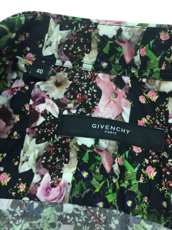 Givenchy GIVENCHY Pre14 reversed panel rose floral digital print cotton shirt US40 FR50 Size US M / EU 48-50 / 2 - 9