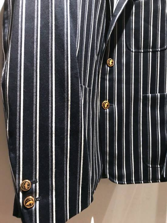 Thom Browne NAVY STRIPED CROPPED PREPPY BLAZER Size 48S - 3