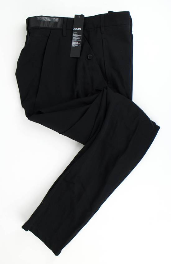 Julius 7 Black 'Slim Drop Crotch' Slim Fit Casual Pants Size 4/L Size US 36 / EU 52