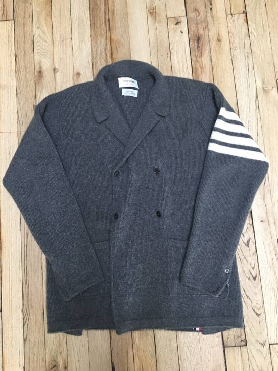 Thom Browne Double Breasted Heavy Cashmere Cardigan Size US XL / EU 56 / 4