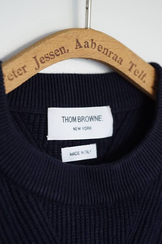 Thom Browne Blue Striped Ribbed-Knit Cotton Sweater Size US M / EU 48-50 / 2 - 6