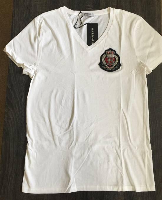 Balmain Balmain White V neck shirt Size US S / EU 44-46 / 1