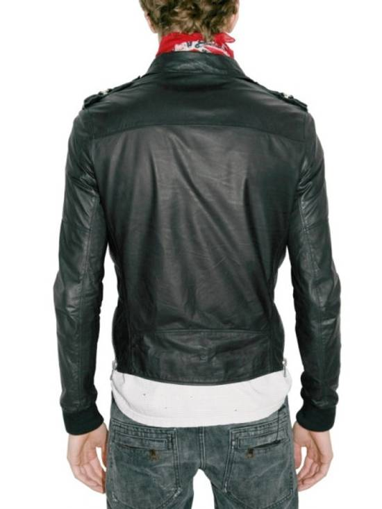 Balmain Safety Pin Leather Biker Jacke Size US M / EU 48-50 / 2 - 2