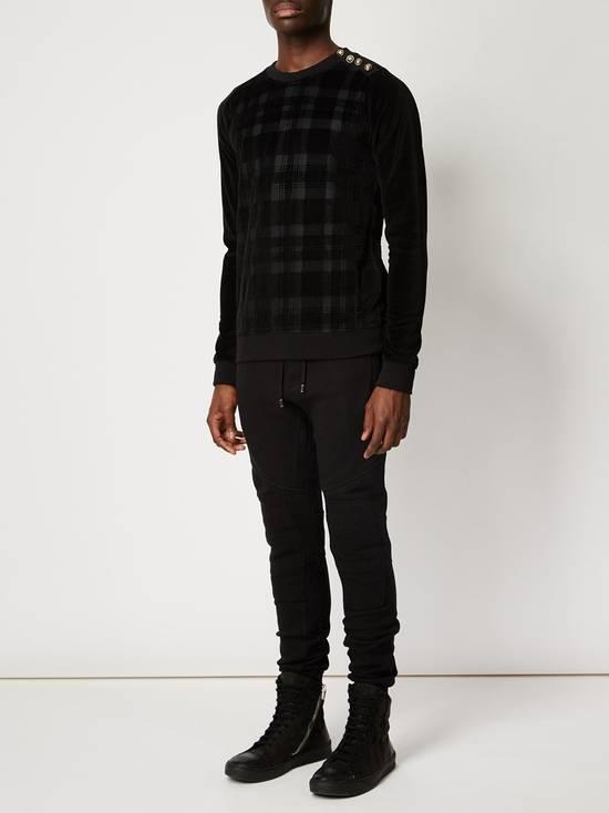 Balmain Size Small - Checked Button Shoulder Sweatshirt- FW16 - $1050 Retail Size US S / EU 44-46 / 1 - 7