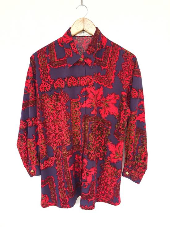 Balmain Multicolor Overprinted Floral Blossom Oversized Button Up Silk Shirt Size US L / EU 52-54 / 3 - 1