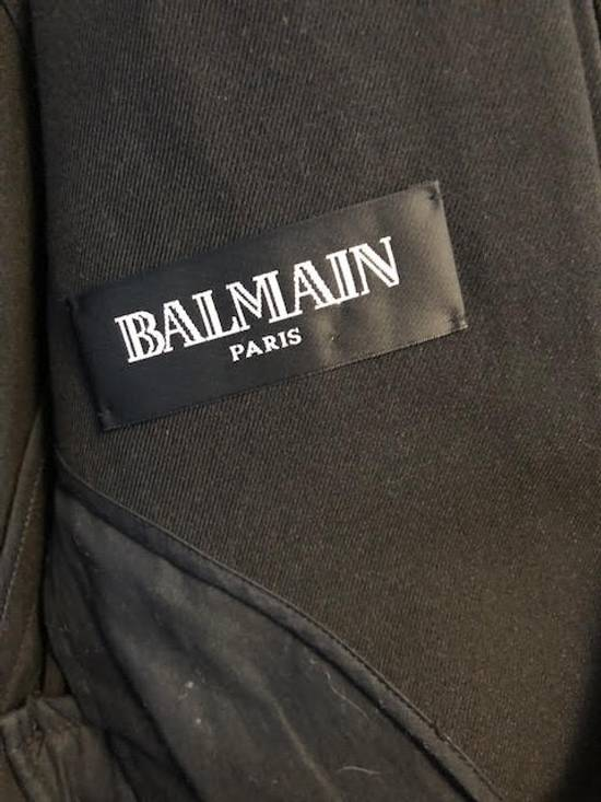 Balmain Decarnin-era black tailored overcoat/long blazer Size US M / EU 48-50 / 2 - 1