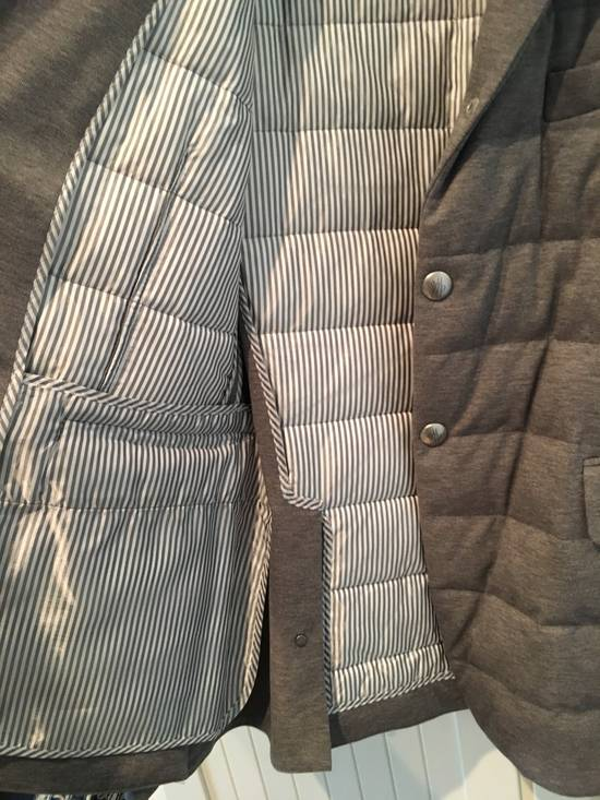 Thom Browne Gamme Bleu Quilted Down Blazer in Grey Size US XL / EU 56 / 4 - 4