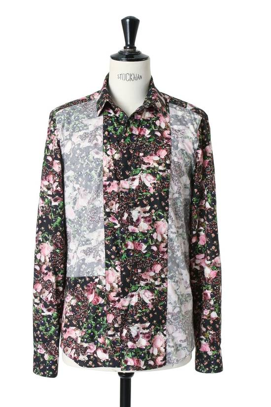 Givenchy GIVENCHY Pre14 reversed panel rose floral digital print cotton shirt US40 FR50 Size US M / EU 48-50 / 2 - 3