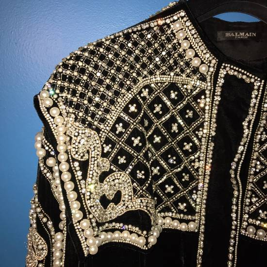Balmain Balmain Fall 2012 Swarovski Crystal & Pearl Jacket Size US XL / EU 56 / 4 - 5