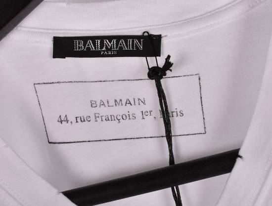 Balmain Paris Men White V Neck T-Shirt, NWT Size US M / EU 48-50 / 2 - 4