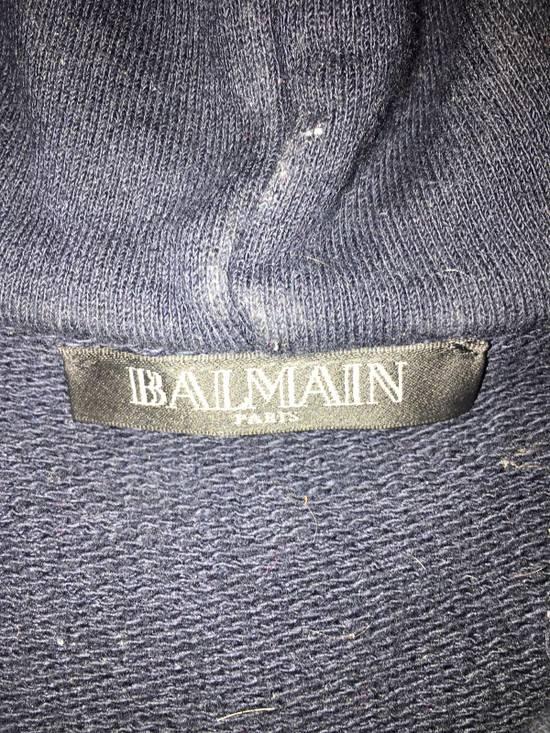Balmain Navy Pullover Dual Zippers/Shoulder Patches Size US L / EU 52-54 / 3 - 1