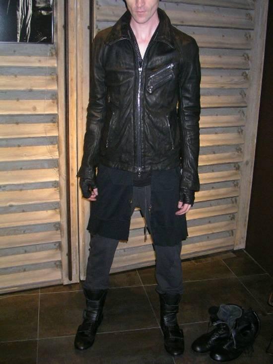 Julius Jut Neck Leather Jacket s/s08 Size US M / EU 48-50 / 2 - 18