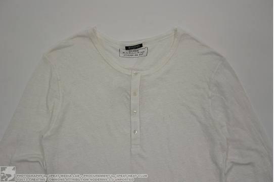 Balmain Linen Long Sleeve Henley Size US XXL / EU 58 / 5 - 5
