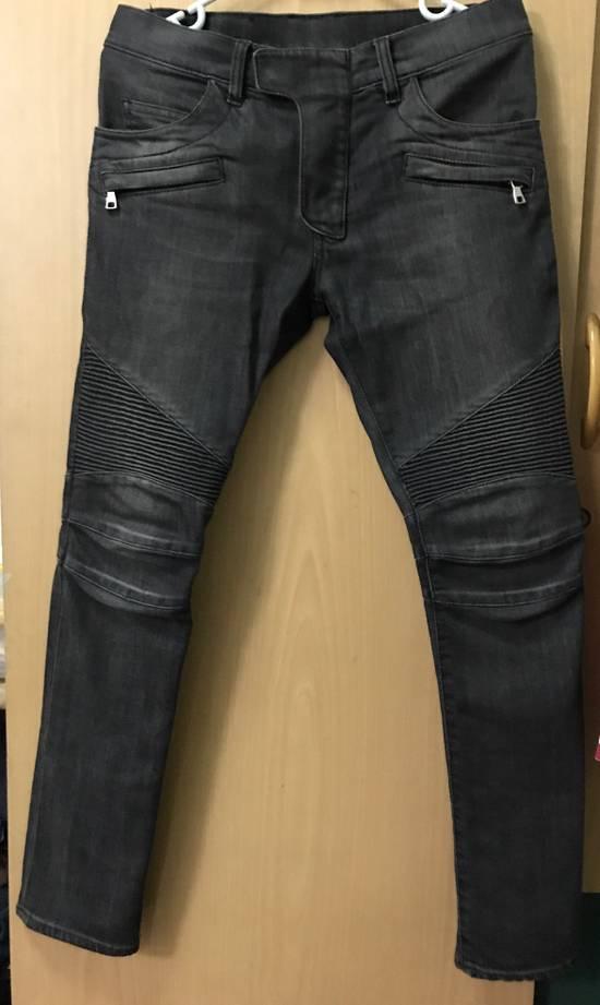 "Balmain FW11 Decarnin Grey ""Biker"" Jeans. Size US 29 - 1"