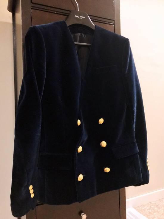 Balmain Balmain Blue Velvet Blazer Size 46R