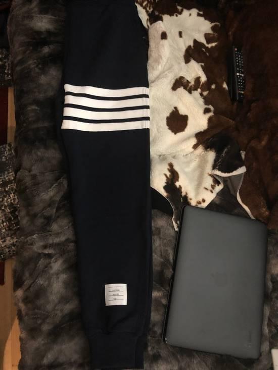 Thom Browne Navy Engineered 4 Bar Stripe Sweatpants Size US 32 / EU 48