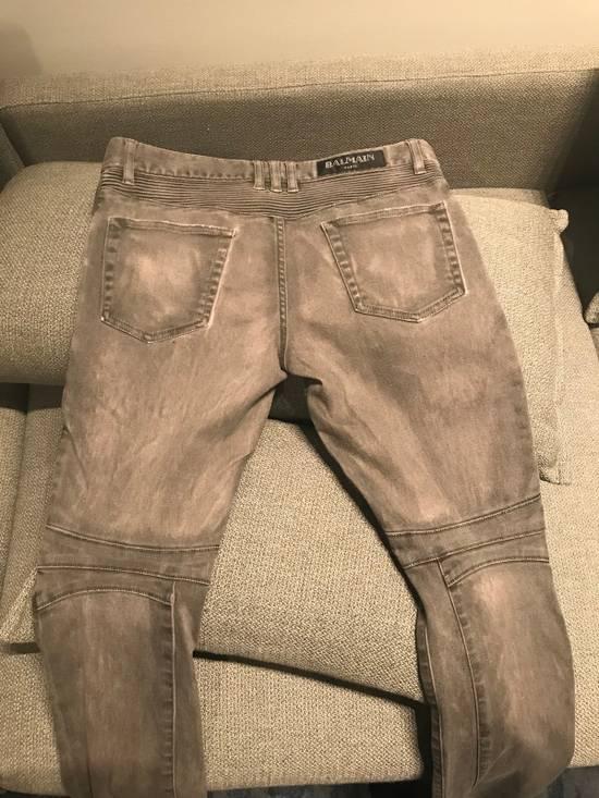 Balmain Grey Biker Jeans Size US 32 / EU 48 - 1