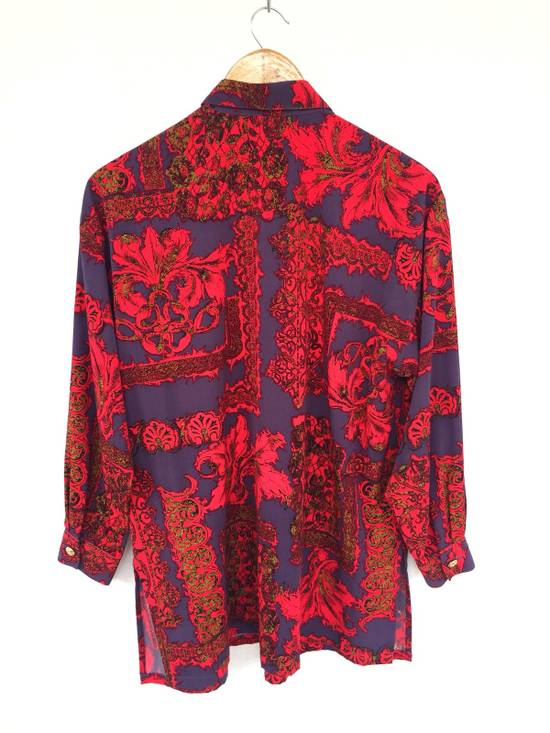 Balmain Multicolor Overprinted Floral Blossom Oversized Button Up Silk Shirt Size US L / EU 52-54 / 3 - 3