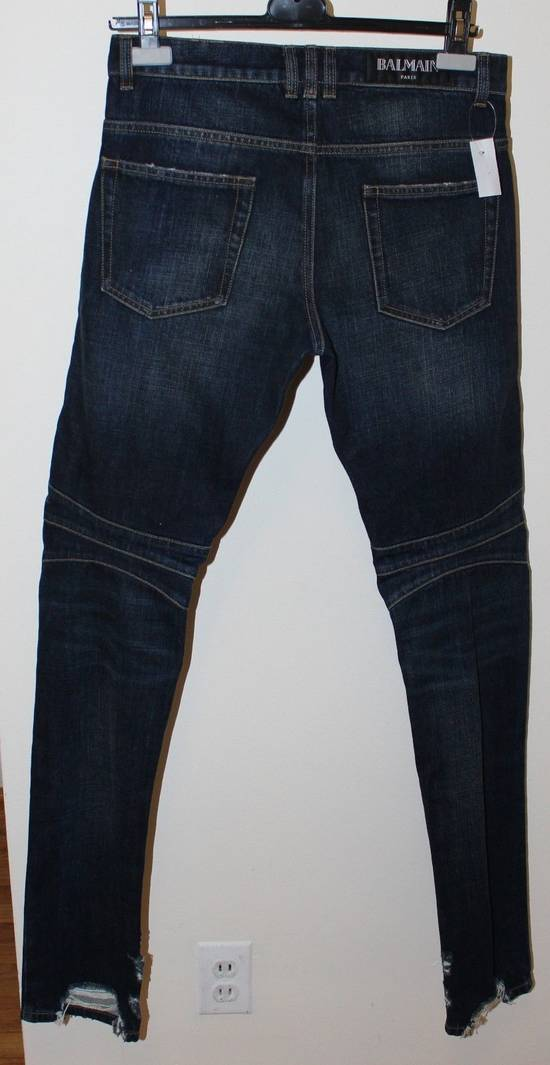 Balmain Balmain Side Distressed Moto Biker Jeans Size 28 BNWT Blue Denim Size US 28 / EU 44 - 3